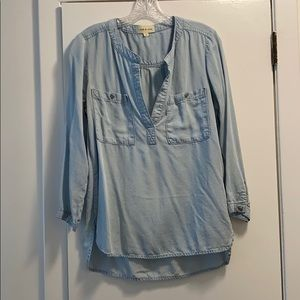 Cloth & Stone denim blue blouse- 3/4 sleeve